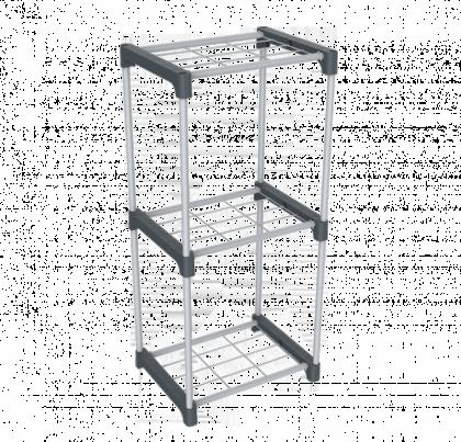 Стеллаж для хранения модель 8, серый
