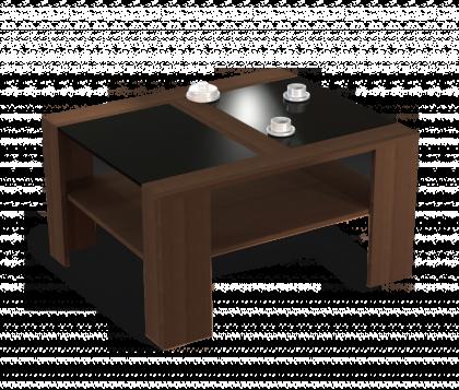 Журнальный столик модель 2, венге, черный