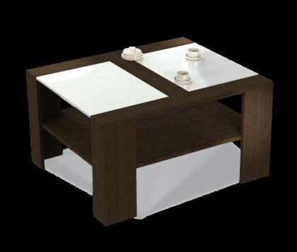 Журнальный столик модель 2, венге, белый