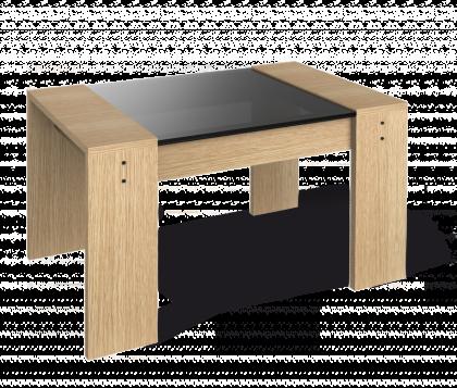 Журнальный столик модель 5, дуб беленый, дымчатый