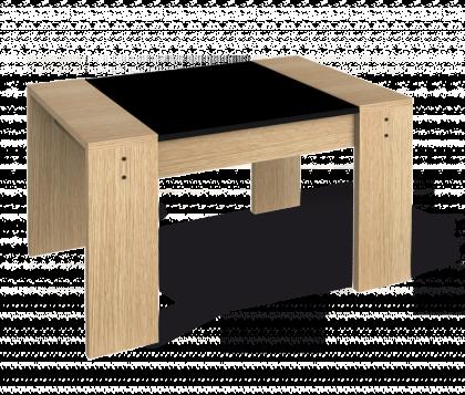 Журнальный столик модель 5, дуб беленый, черный