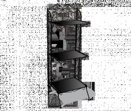 Стеллаж для хранения Изабель модель 1, черный