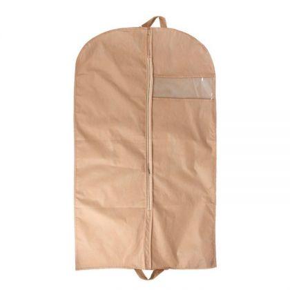 Чехол для одежды с окном бежевый, 140*60см