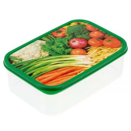 Коробка для еды прямоугольная 1,2л, Урожай
