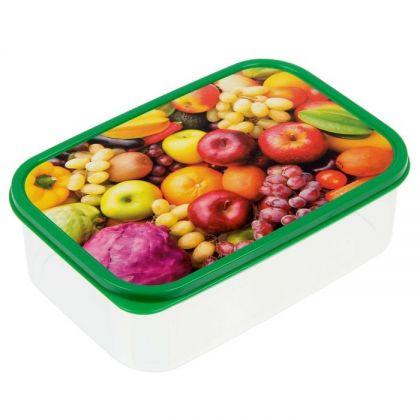 Коробка для еды прямоугольная 1,2л, Дары лета