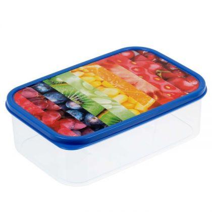 Коробка для еды прямоугольная 1,2л, с рисунком 1