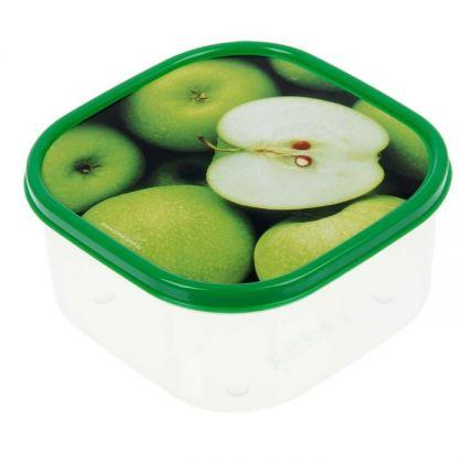 Коробка для еды квадратная 700мл, яблоки