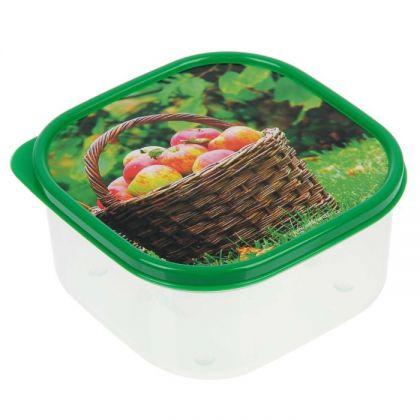 Коробка для еды квадратная 700мл, корзина яблок