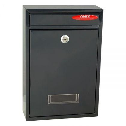 Почтовый ящик 21,5x8,5x32 см, темно серый