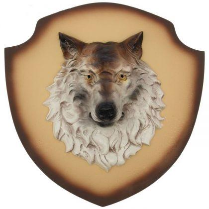 """Декор на стену """"Волк"""" бежевый фон"""