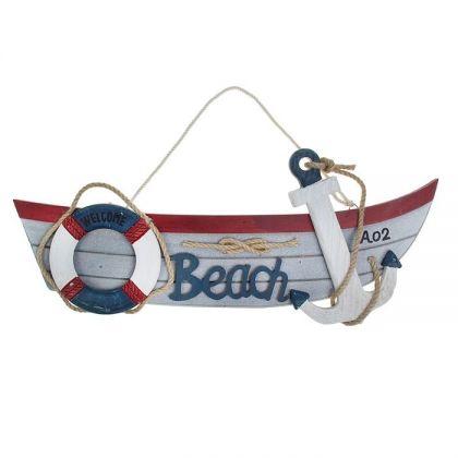 """Декор для дачи подвесной """"Пляж"""" 44x22x4 см"""