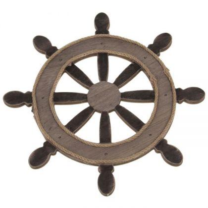 """Декор для дачи """"Деревянное колесо"""" cо светодиодами"""