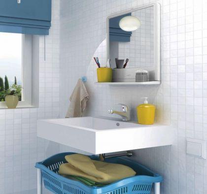 Комплект для ванной комнаты, белый, 30 x 4 x 37,5 см