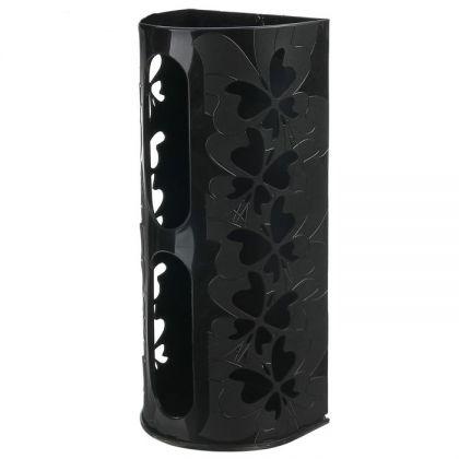 """Корзина для пакетов """"Бабочки"""", черный, 16,8 х 13,3 х 37,5 см"""