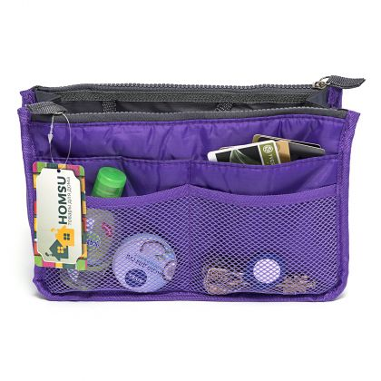 """Органайзер для сумки """"Chelsy"""",  фиолетовый, 28,5 х 8,5 18,5 см"""