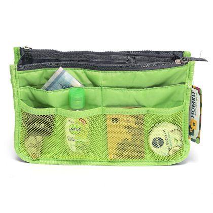 "Органайзер для сумки ""Chelsy"", зеленый, 28,5 х 8,5 х 18,5 см"