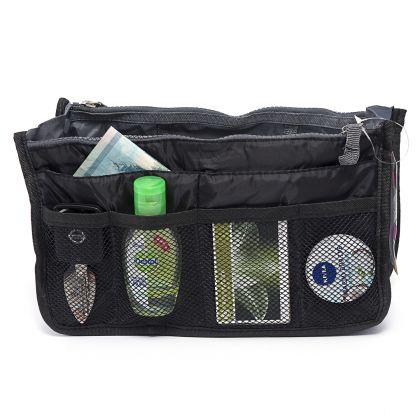 """Органайзер для сумки """"Chelsy"""", черный, 28,5 х 8,5 х 18,5 см"""