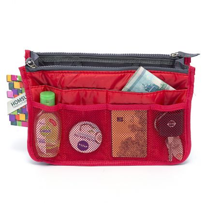 """Органайзер для сумки """"Chelsy"""", красный, 28,5 х 8,5 х 18,5 см"""