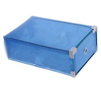 """Коробка для обуви """"Melani"""", синяя, 31 х 19,5 х 10,5 см"""