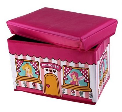 Коробка для хранения детская Принцесса, розовая, большая
