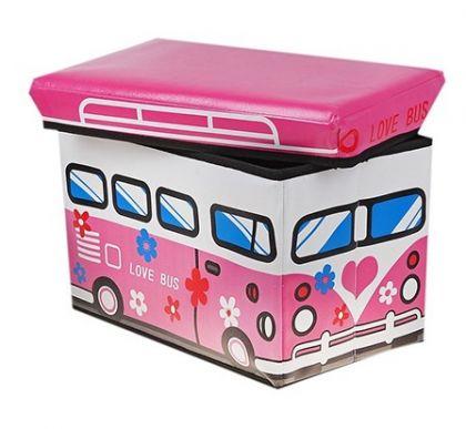Коробка для хранения детская Любимый, розовая, большая