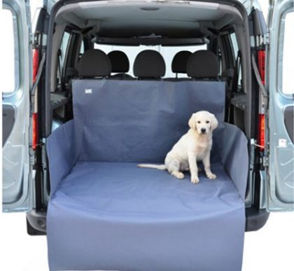 Автогамак для перевозки собак в багажнике, серая,120 х 150 х 70 см