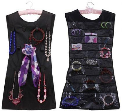 "Органайзер для аксессуаров ""Little Black Dress"", черный, 45 х 72 х 0,5 см"