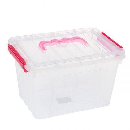 Органайзер для хранения с крышкой на защелках 4,4 л, разные цвета