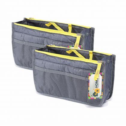 Комплект из двух органайзеров для сумки Chelsy, серый, 28,5 х 8,5 х 18,5 см