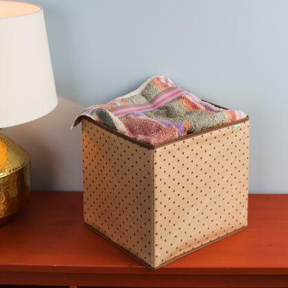 "Коробка-куб для хранения вещей ""Горох"", 30 х 30 х 30 см"