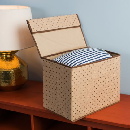 """Коробка для хранения вещей с крышкой """"Горох"""", 38 x 25 x 30 см"""