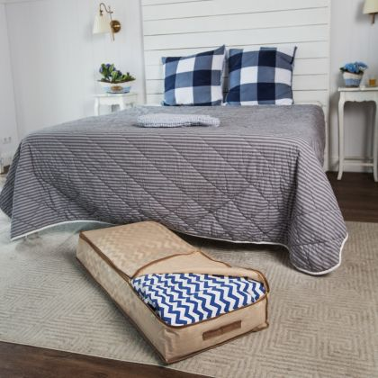 """Чехол для одеял, подушек, постельного белья """"Горох"""", 100 x 45 x 15 см"""