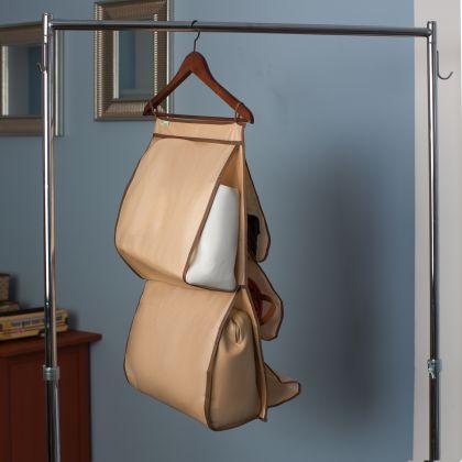"""Органайзер для сумок в шкаф """"Горох"""", бежевый, 70 х 40 см"""