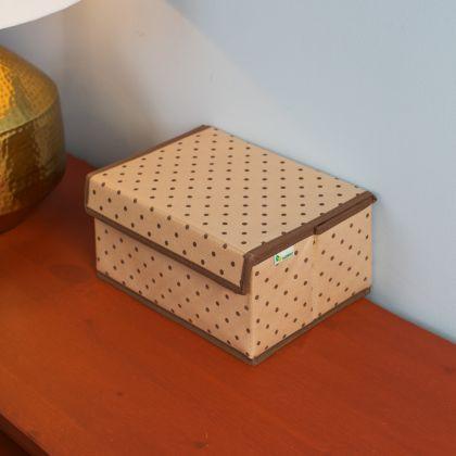 """Коробка для хранения вещей с крышкой """"Горох"""", 25 x 19 x 13 см"""