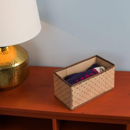 "Коробка для вещей в прихожую, гардеробную ""Горох"", 25 х 15 х 14 см"