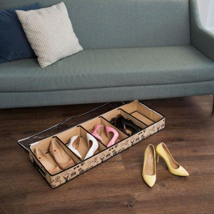 Органайзер для обуви на 5 отделений «Hipster Style», 100 x 32 x 11 см