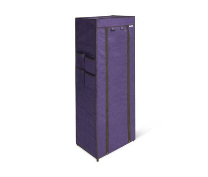 Стеллаж с тканевым чехлом, фиолетовый