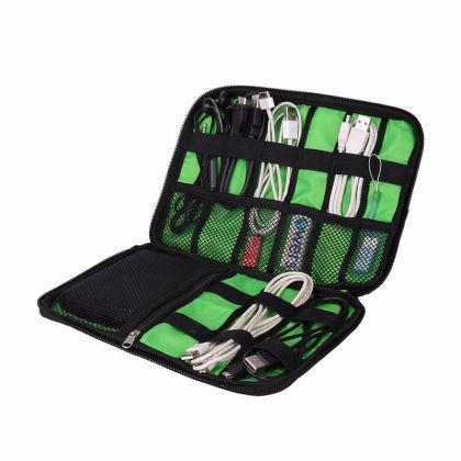 Органайзер для электроники и проводов, черный, 24 х 17 х 3,7 см