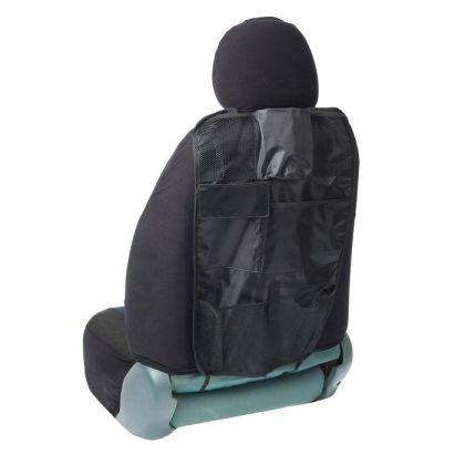 Органайзер в авто на спинку переднего сидения на 7 карманов 60 x 47 см, черный