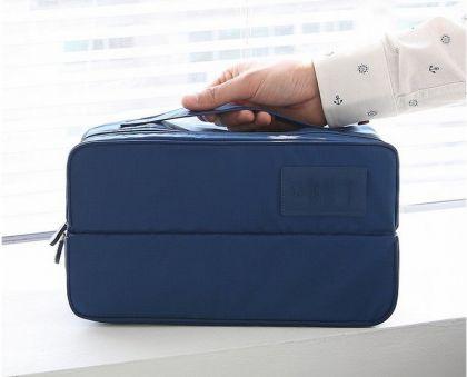 Органайзер для вещей в багаж, синий, 30 x 17 x 12,5 см