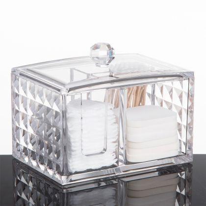 "Акриловый органайзер для косметики ""Diamond"" на 3 секции, 14,4 х 10,0 х 11,2 см"