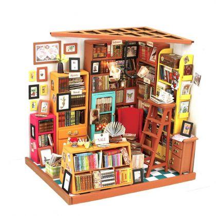 """Румбокс для создания миниатюры """"Книжный магазинчик"""", 22,5 x 18,5 x 19 см"""
