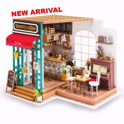 """Румбокс для создания миниатюры """"Любимая кофейня"""", 22,6 х 19,4 х 19 см"""