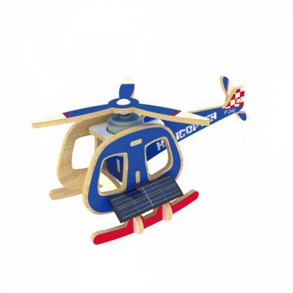 """3D-пазл """"Вертолет с мотором"""", 14 x 8,5 x 6,5 см"""
