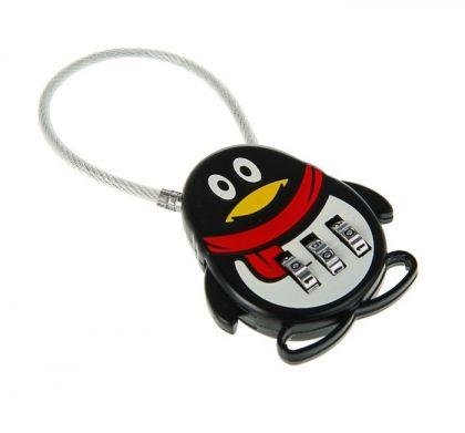 "Кодовый замок ""Penguin"", черный, 4,4 х 1,1 х 9,3 см"