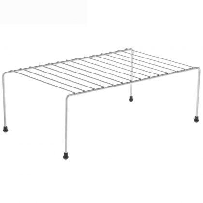 Полка для шкафа, противоскользящие наконечники, хром, 36 x 22 x 12,5 см