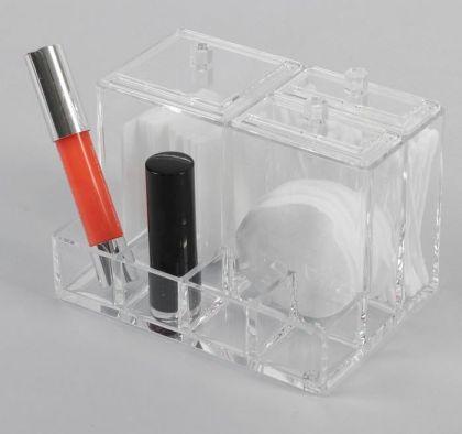 Органайзер для косметических принадлежностей, с крышкой, 10,5 х 14 х 10 см