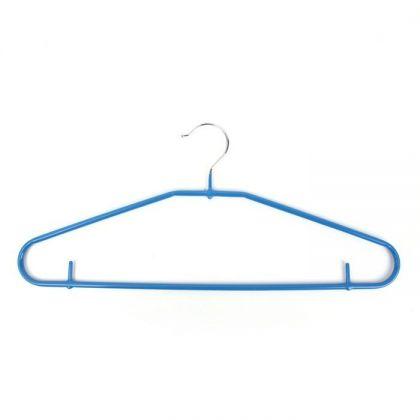 Вешалка-плечики антискользящая (1 шт.), синий, размер 44-46