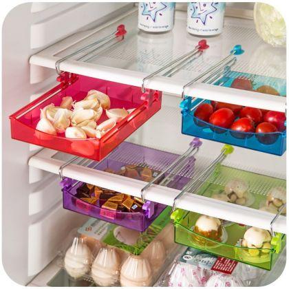Контейнер для холодильника на металлическом основании, розовый, 15 х 12 х 4 см
