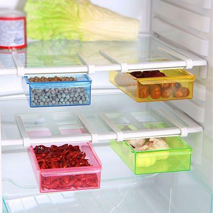 Контейнер для холодильника на пластиковом основании, желтый, 20 х 15 х 6,8 см.